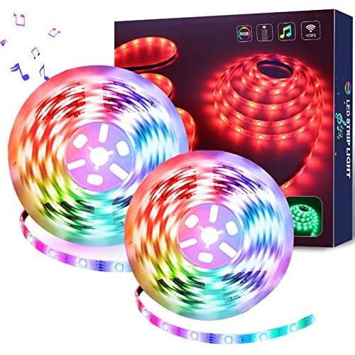 chollos oferta descuentos barato Luces de Tira LED 10Metros WiFi Impermeable Tira de LED Kit Completo Funciona con Alexa Google Home WiFi Teléfono Inteligente Inalámbrica Luces LED Kit