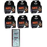 Personna M5 Magnum 5 Refill Razor Blade Cartridges, 4 ct. (Pack of 6) with FREE Loving Color trial size conditioner
