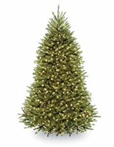 National Tree Company 7-1/2-Feet Dunhill Fir Tree with 700 Dual-Color LED Lights and Foot Switch