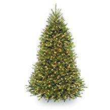 National Tree 7 1/2 Foot Hinged Dunhill Fir Tree with 700 Low Voltage Dual Color LED Lights (DUH3-330D-75)