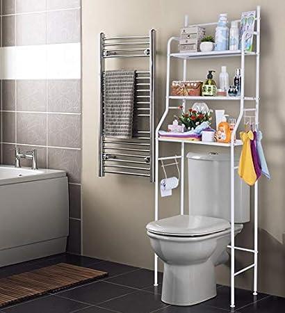 Bayli – Estantería de baño sin taladrar con 3 estantes ...