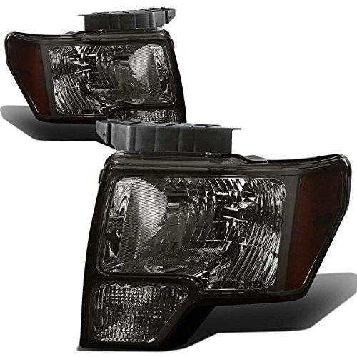 For Ford F-150 12th Gen Pair of Smoked Lens Amber Corner Headlight Lamps Lighting Kit