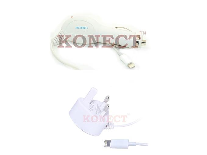 KONECT NEW LIGHTNING de corriente y cargador de coche doble ...