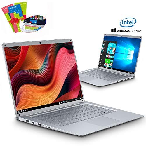 🥇 Ordenador Portatil Intel Celeron J3455 Ultrabook 14.1'IPS/HD Notebook Intel Core 6GB RAM 128GB SSD Windows 10 Home 2.3Ghz Computadora Batería 8000mAh Intel HD Graphics 500 PC Portatil