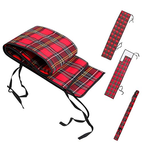 Fly Bag Rod - M MAXIMUMCATCH Maxcatch Thicken Cotton Fly Fishing Rod Sock(Bag) - fits Any 9ft 4pcs Fly Rod(Rod Sock Tartan, for 9ft 4 pcs Fly Rod)