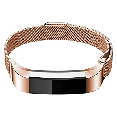 "Metal Band for Fitbit Alta, Replacement Accessories for Men and Women, 6.2"" - 9"" Wrist"