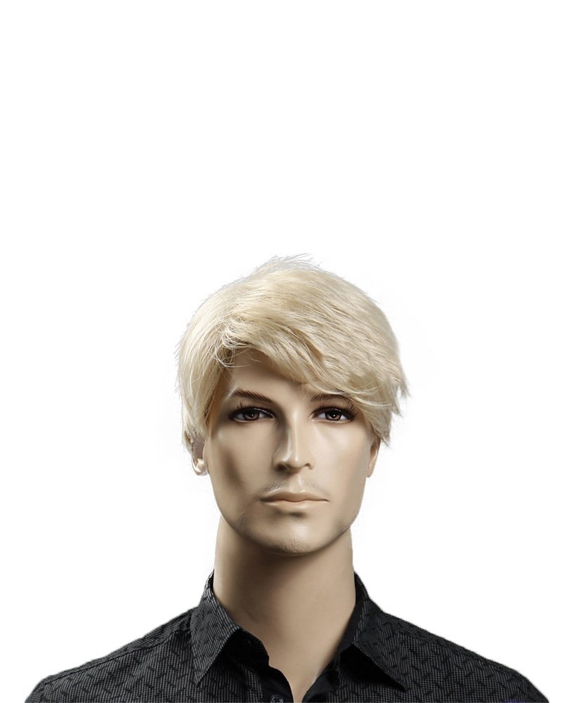 Kalyss 12'' Short Straight Men's Blonde Color Wig Heat Resistant Synthetic Hair Wig (blonde) by Kalyss