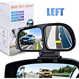 YnGia Blind Spot Mirror, Double Glass Adjustable Rear View Blind Spot Mirror Car Auxiliary Wide Angle Mirrors Side-Angle Side