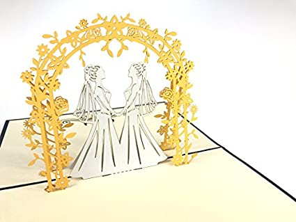 Tarjeta de felicitación de boda para matrimonio con pareja ...