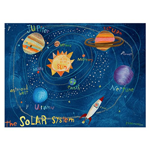 Oopsy Daisy The Solar System Stretched Art, 40 x 30'' by Oopsy Daisy