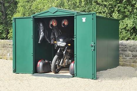 De garaje para moto 152, 4 cm x 304, 8 cm 9 99 verde oscuro (sin montaje) - al aire libre seguro para organizar para moto: Amazon.es: Jardín