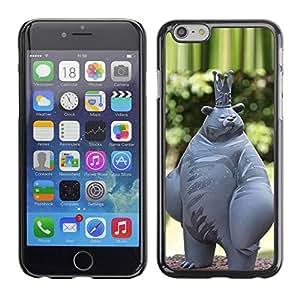 TopCaseStore / la caja del caucho duro de la cubierta de protección de la piel - Abstract Bear King Statue - Apple iPhone 6