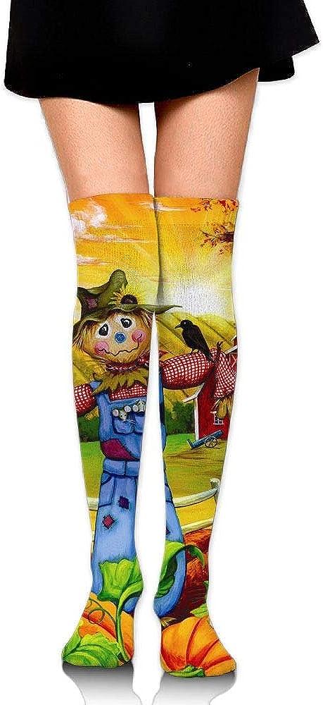 High Elasticity Girl Cotton Knee High Socks Uniform Farm Straw Man Women Tube Socks