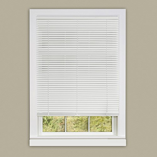 Achim Home Furnishings 31 by 64 Deluxe Sundown 1-Inch Slat Room Darkening Blind, Mini, White