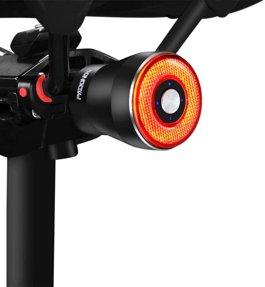 ONEVER Luz Trasera de Bicicleta luz Recargable USB Resistente al Agua L/ámpara Inteligente de Freno LED L/ámpara de luz estrobosc/ópica de Advertencia de Seguridad con 5 Modos de luz