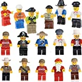 20-Piece Family and Community Minifigures People Compatible with Lego