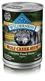 Blue Buffalo Wilderness Wolf Creek Stew High Protein Grain Free, Natural Wet Dog Food, Hearty Duck Stew In Gravy 12.5-Oz Can (Pack Of 12) For Sale