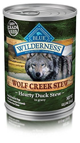 Blue Buffalo Wilderness Wolf Creek Stew High Protein Grain Free, Natural Wet Dog Food, Hearty Duck Stew In Gravy 12.5-Oz Can (Pack Of 12)