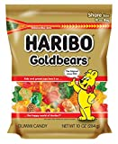Haribo Goldbears, 10 oz. Resealable Zipper Bag (Pack of 8)