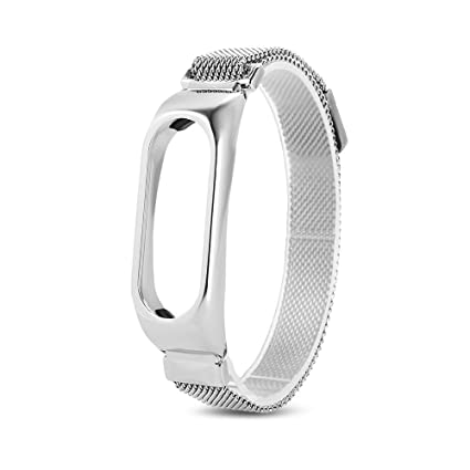 iMounTop Xiaomi mi band 2 Reemplazo Banda Acero Inoxidable cinturón correa de la muñeca con marco de metal Wristband pulsera accesorios para Xiaomi Mi ...