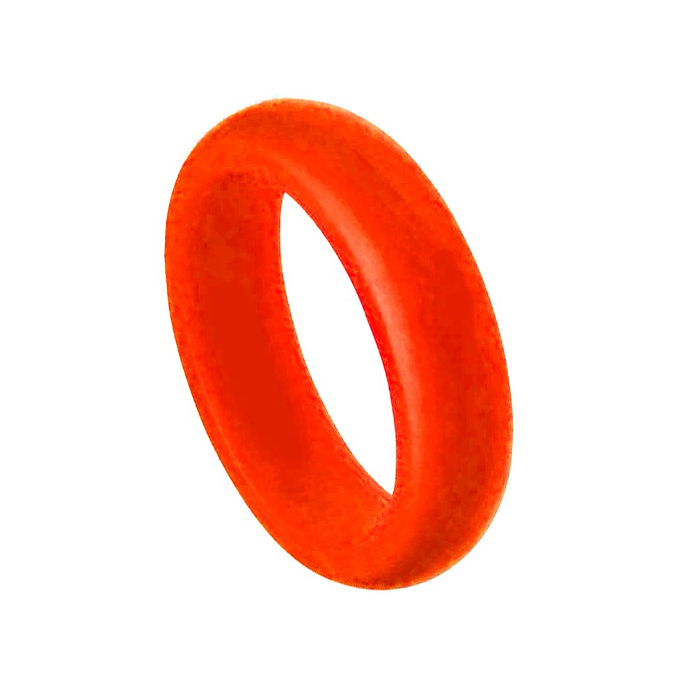 SAR 6MM Men or Ladies Flexible RED Silicon Rubber Wedding Band Ring SAFE ACTIVE RINGS