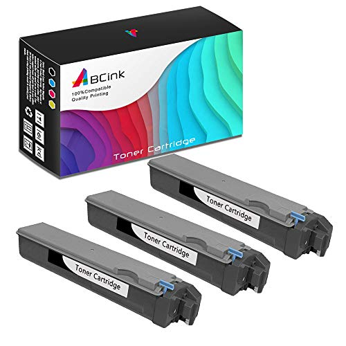 ABCink Compatible Toner Cartridge Replacements for Kyocera TK-512K,for use in Kyocera FS-C5020N, FS-C5025N, FS-C5030N,8000 Yields(3 Pack,Black)