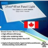 M.T.C Canada LED 2 Feet X 4 Feet (600mmX1200mm) flat panel Dimmable CUL Approved Slim Panel Light with Junction Box at the Back 72W, 6000K , 8600Lm Luminous Pack of 2 Pieces=$290 Cad, 1 Piece = $145.00 Cad For Sale Special Sale For limited time only Price for 2 Pack Is $250.00 CAD 1 Piece Cost $125.00 CAD Canadian Company Canadian Stock