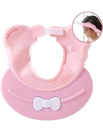 b/éb/é et Enfants pour Garder leau de Leurs Yeux et du Visage AMOYER Safe Shampooing Douche Protection de Bain Doux Chapeau pour Tout-Petits de Rose