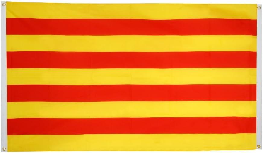 Flaggenfritze – Bandera de balcón Bandera España Cataluña: Amazon.es: Jardín