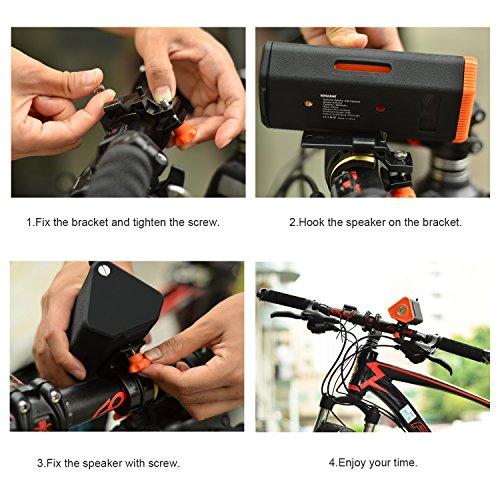 USB Rechargeable Bike Light, KMASHI MULTI-FUNCT...