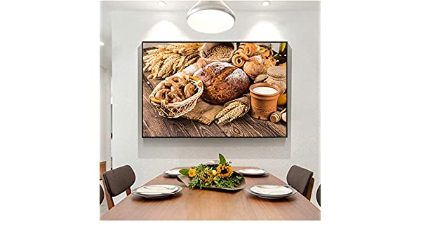 RTCKF Kitchen Theme Canvas Print Art Painting On The Wall ...