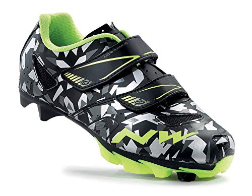 Northwave Junior MTB Shoes Hammer Junior Camouflage/Fluo Yellow - 33-EU from Northwave