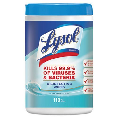 - Lysol Disinfecting Wipes, Ocean Fresh, 7