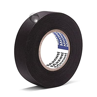 Automotive Wiring Harness Cloth Tape - Maxwel VERSAF51217 Chemical Fiber Cloth High Temp Wire Harness Wrapping Tape for Auto Electrical Wrap, Protection, Insulation 19MM × 25M Pack of 1 Piece