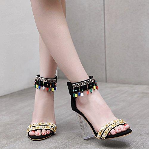 moda dolce colore green i donna 40 collane GTVERNH da in estate 10cm la tacchi scarpe famosi sandali alti qw4t47