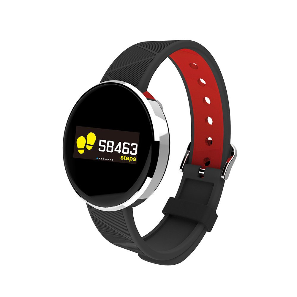 Anself Smart Bracelet Sport Wrist Watch Heart Rate Sleep Monitor with OLED Screen Fitness Tracker Touch Pad Blood Pressure Smart Band for IOS and Android by Anself