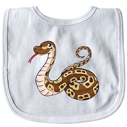 - Inktastic - Cute and Cuddly Ball Python snake Baby Bib White 2cf2a