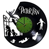 Peter Pan Handmade Vinyl Record Wall Clock - Get unique nursery wall decor - Gift ideas for kids, brother and sister – Magic Land Unique Modern Art