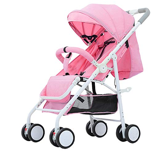 WYANAN Baby Stroller Sit Lightweight Portable Travelling Pram High Landscape Children Pushchair 4 Seasons Newborn Travelling Pram,Pink