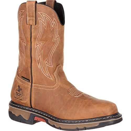 (Georgia GB00162 Mid Calf Boot, Dark Brown, 13 M US)