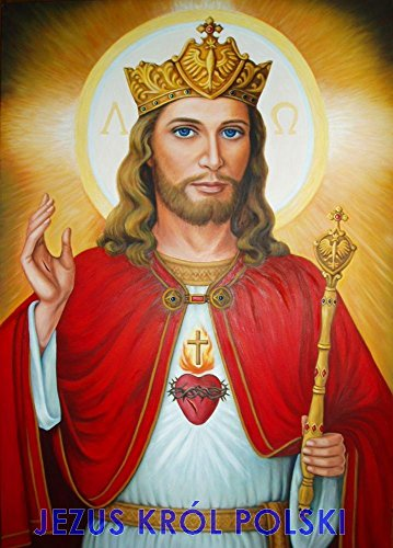 [Jesus the King of Poland POSTER print A4-A3 Christ Picture image Christian Religious wall art Jesus] (Pink Lady Costume Images)