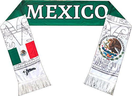 Mexico Scarf - Perfect Hat Trick Official Mexico Flag Scarf - El Tri