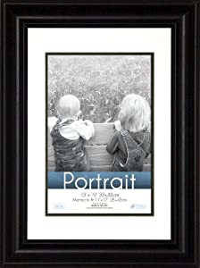 timeless frames 13x19 inch fits 11x17 inch photo lauren portrait wall frame black