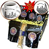 Sandy Mertens California - San Francisco Line Art - Coffee Gift Baskets - Coffee Gift Basket (cgb_21687_1)
