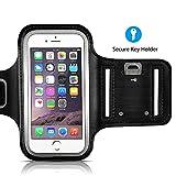 VicTsing Brazalete Deportivo Resistente de Agua con Key Holder para el iPhone 8, el iPhone7, el iPhone6, 6S (4,7 pulgadas), Galaxy S3 / S4, el iPhone 5 / 5C / 5S, Bulto con Protector de Pantalla - Negro
