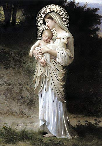 Innocence Virgin Mary - Religious Wall Art Print Poster (12x16)