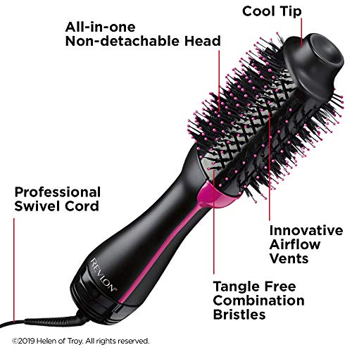 Revlon One-Step Hair Dryer & Volumizer Hot Air Brush, Black