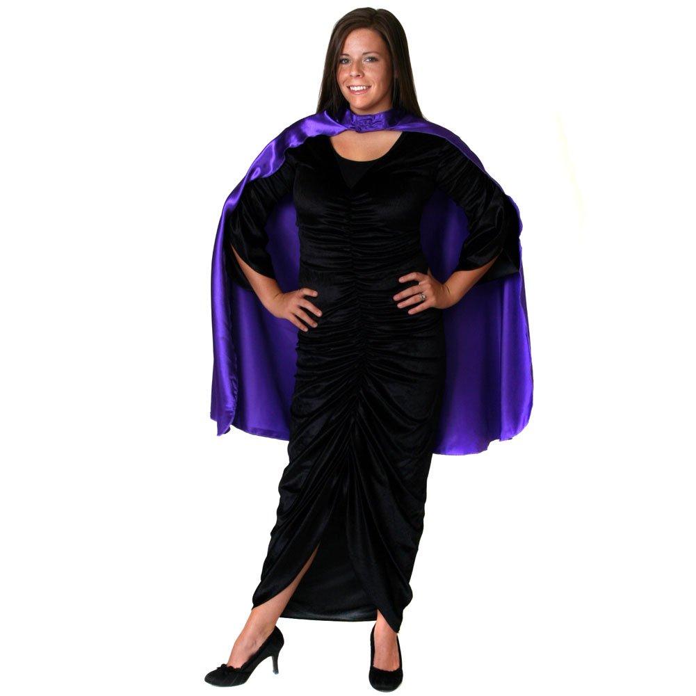 Unisex Purple Satin Costume Cape