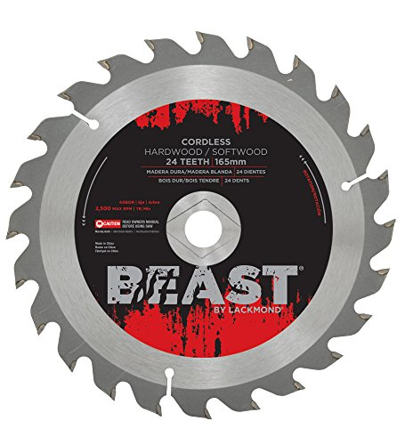 Lackmond Beast Cordless Saw Blades - 6-1/2'' Wood Cutting Tool with Cordless and Portable Saw Applications & 5/8'' - DM - WCOMB612024 by Lackmond