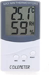COLEMETER 2 en 1 Termómetro Higrometro LCD Pantalla Medidor Temperatura Termohigrómetro digital Medidor Temperatura y Humedad